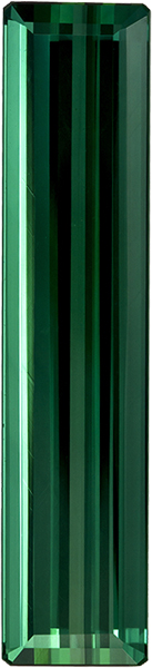 Vibrant Blue Green Tourmaline Loose Brazil Gem in Emerald Cut, 30 x 7.2 mm, 13.89 Carats