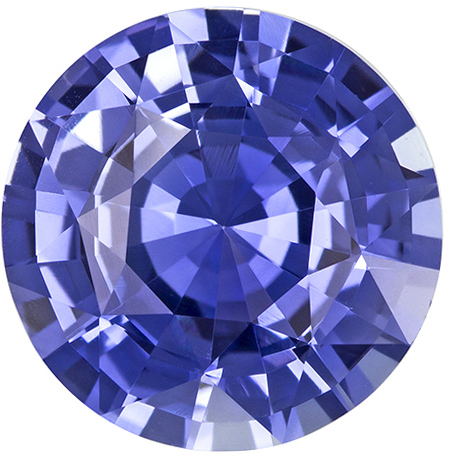 Vibrant Cornflower Ceylon Blue Sapphire Loose Gem in Round Cut, 10.9 mm, 4.96 Carats