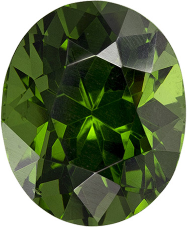 Vibrant Forest Green Zircon Ceylon Loose Gem in Oval Cut, 9.7 x 7.9 mm, 3.7 Carats