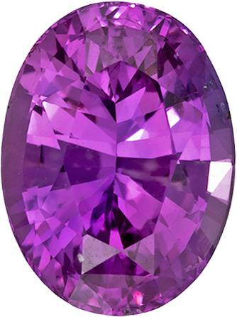 Vibrant Magenta Purple Ceylon Sapphire Loose Gem in Oval Cut, 7 x 5 mm, 1.11 Carats