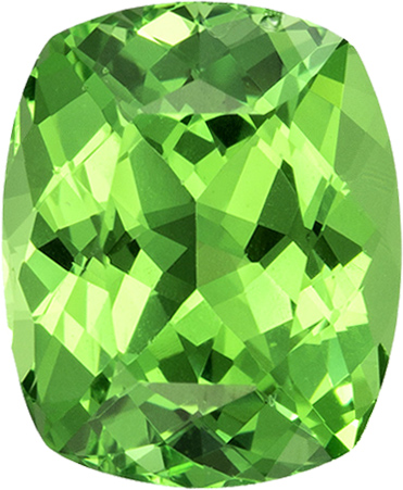 Vibrant Minty Green Garnt Tsavorite Loose Tanzania Gem in Cushion Cut, 6.9 x 5.7 mm, 1.25 Carats