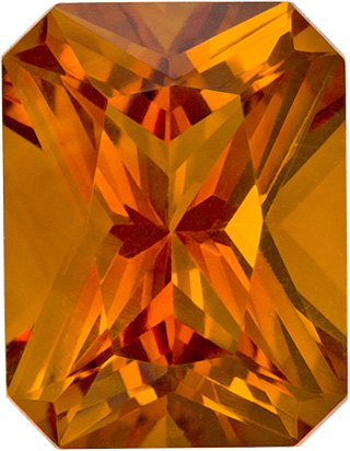 Vibrant Orangey Gold Citrine Loose Gem in Radiant Cut, 9.1 x 7 mm, 2.12 Carats - SOLD