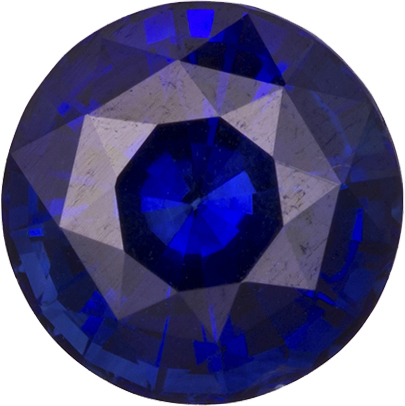 Vibrant Pure Blue Sapphire Loose Madagascar Gem in Round Cut, 6.3 mm, 1.22 Carats - SOLD