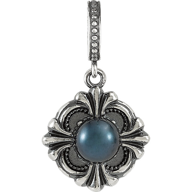 Must See Sterling Silver Solitaire Pendant Mounting for 6mm Pearl