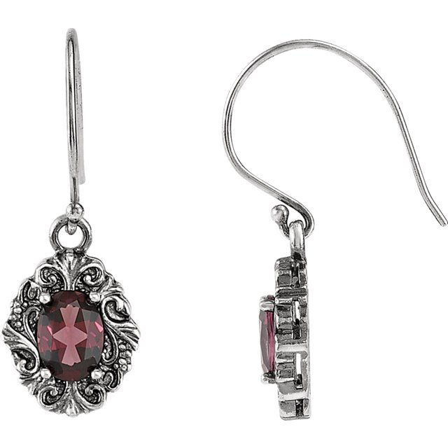 Victorian Style Wire Back Earring Mounting For Oval Shape Centergems Sized 7.00 x 5.00 mm - Customize Metal or Gem Type