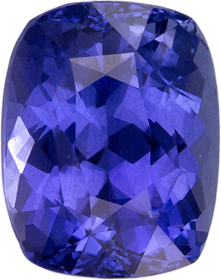 Violetish Cornflower Ceylon Sapphire Loose Gem in Cushion Cut, 8.7 x 6.8 mm, 2.85 Carats
