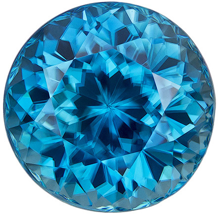 Vivid Blue Large Round Zircon Loose Gemstone in Round Cut, 10.9 mm, 8.79 carats