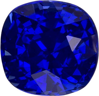 Vivid Blue Sapphire Unheated GIA Certed Loose Gem in Cushion Cut, 5.72 x 5.62 x 4.36 mm, 1.17 carats - SOLD
