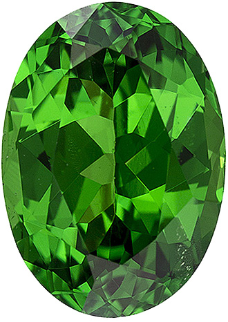 Vivid Grass Green East African Tsavorite Fine Gem for SALE, 8 x 5.7 mm, Oval Cut, 1.38 carats