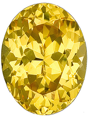 Vivid, Intense Medium Yellow Sapphire with Exceptional Cut from Ceylon, Oval Cut, 2.04 carats