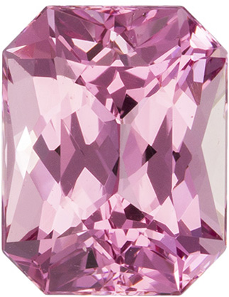 Vivid Pink 7.4 x 5.8 mm, 1.64 carats Very Pretty Pink Spinel Gemstone in Radiant Cut