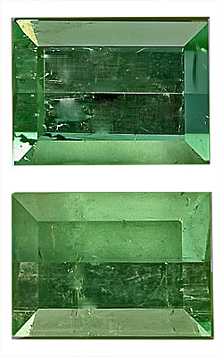 Well Matched! - Remarkable Green Tourmaline Genuine Gemstone Matched Pair for SALE,  Mirror Cut, 11.5 x 8.5 mm, 9.68 carats