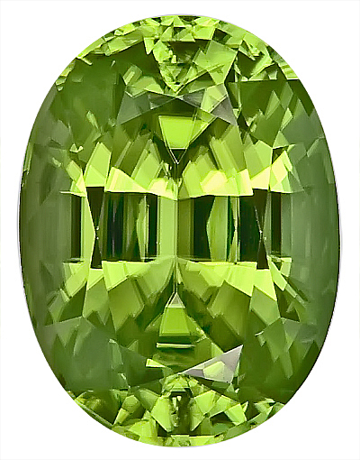 Well Saturated, Gorgeous Bright Green Peridot Natural GEM, Oval Cut, 15.2 x 11.3 mm, 10.72 carats