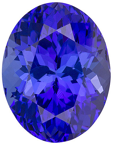 Well Saturated Vivid Blue Tanzanite, 11.4 x 8.8 mm, Oval Cut, 4.62 carats