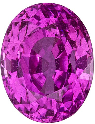 What Color in Madagascar Pink Sapphire Gem - Rich ++ Color, Oval Cut, 2.99 carats