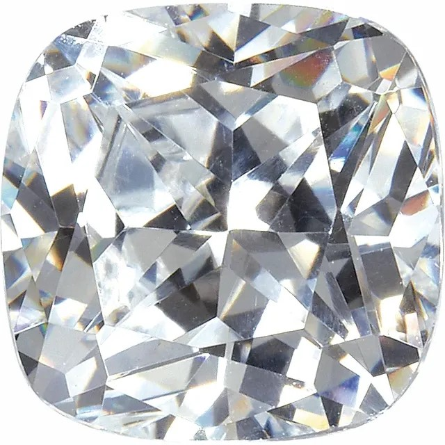 White Cubic Zirconia Antique Square Cut Stones