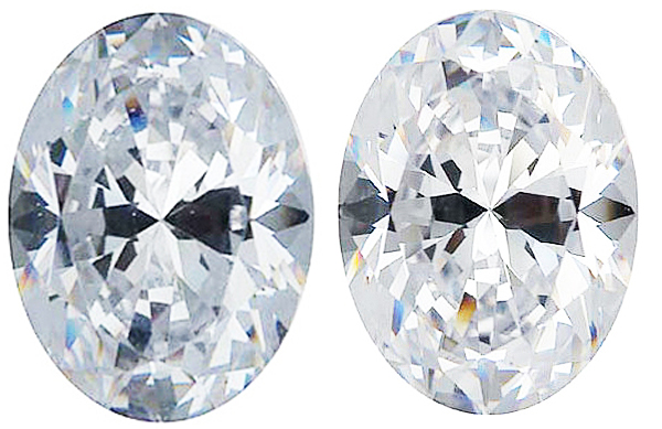 WHITE CUBIC ZIRCONIA Oval Cut Gems