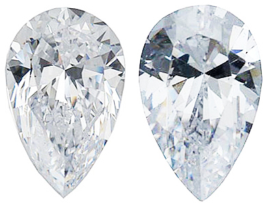 WHITE CUBIC ZIRCONIA Pear Cut Gems