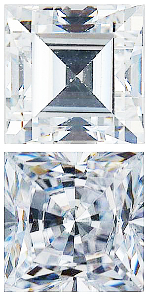 WHITE CUBIC ZIRCONIA Step Cut Gems