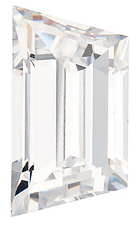 WHITE CUBIC ZIRCONIA Trapezoid Cut Gems