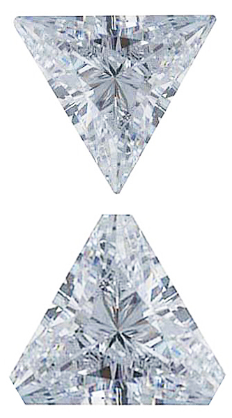 WHITE CUBIC ZIRCONIA Triangle Cut Gems