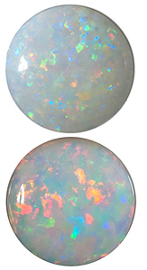 WHITE FIRE OPAL Round Cut - Calibrated