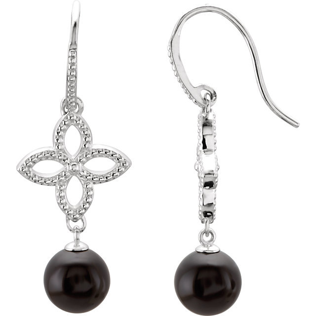 Perfect Gift Idea in Sterling Silver Onyx Earrings