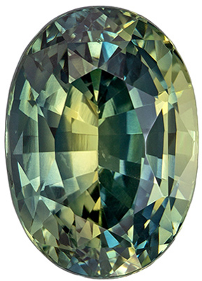 Wonderful Blue Green Sapphire Oval Cut Genuine Gem, Teal Green, 9.1 x 6.5 mm, 2.75 carats