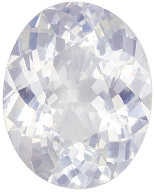 Wonderful GIA Certified White Sapphire Genuine Gemstone, 10.01 x 7.98 x 4.99 mm, Very Colorless White, Oval Cut, 3.07 carats
