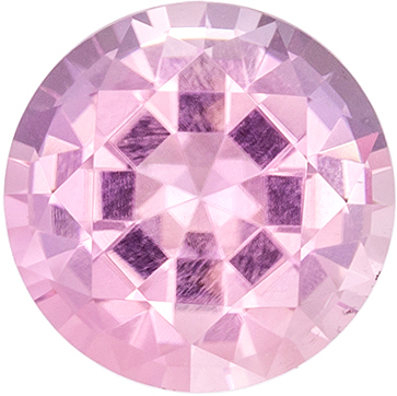 Wonderful Pink Tourmaline Loose Gem, 6.7 mm, Pure Baby Pink, Round Cut, 1.23 carats