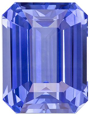 Wonderful Rare Blue Sapphire Emerald Cut Genuine Gem, Vivid Cornflower Blue, 10.99 x 8.52 x 5.75 mm, 6.01 carats GIA Certified