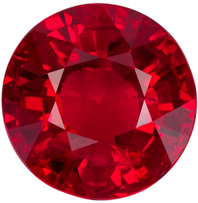 Wonderful Ruby Round Cut Loose Gemstone Vivid Pure Red, 7.52 x 7.63 x 4.53 mm, 2.13 carats GIA Certified