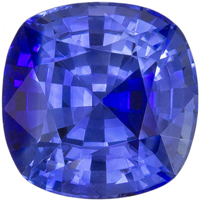 Rich Ceylon Blue Sapphire Ring Stone in Classic Square Cushion Cut in Rich Blue Color, 1.99 carats , 6.9 mm