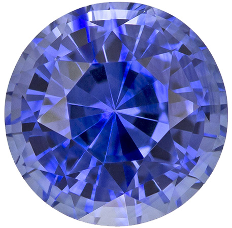 Wonderful Sapphire Loose Gemstone in Round Cut, Medium Vivid Blue, 6.3 mm, 1.41 carats