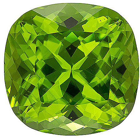 Wonderful Unheated Peridot Gemstone with Beautiful Green Color from Pakistan, Antique square Cut, 8.3 carats