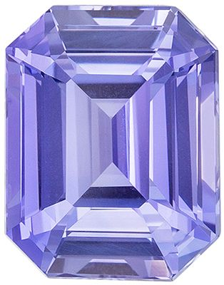 Wonderful  Untreated Blue Sapphire Emerald Cut Loose Gemstone Cornflower Lavendar Blue, 9.02 x 7.03 x 5.04 mm, 3.15 carats GIA Certified