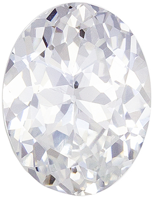 Wonderful White Sapphire Loose Gem, Oval Cut, Colorless White, 7.9 x 6 mm, 1.46 carats