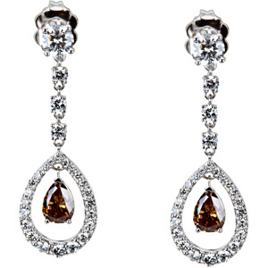 Wow! These are Stunning - Stylish 1 1/3 ct tw Diamond Earrings skillfully set in 18 karat White Gold for SALE