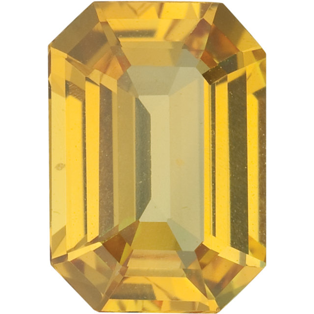 Yellow Sapphire Emerald Cut Gemstones in Grade AAA