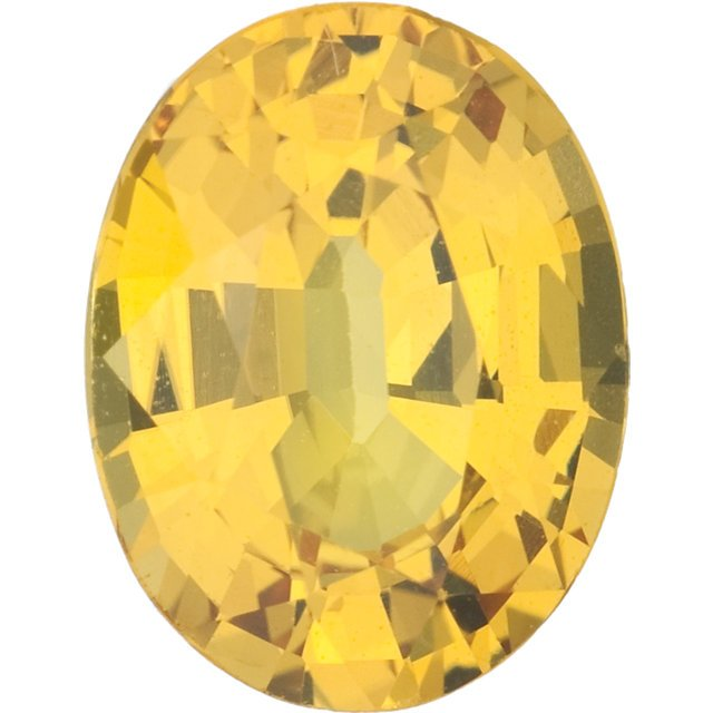 Yellow Sapphire Oval Cut Gemstones  in Grade AAA