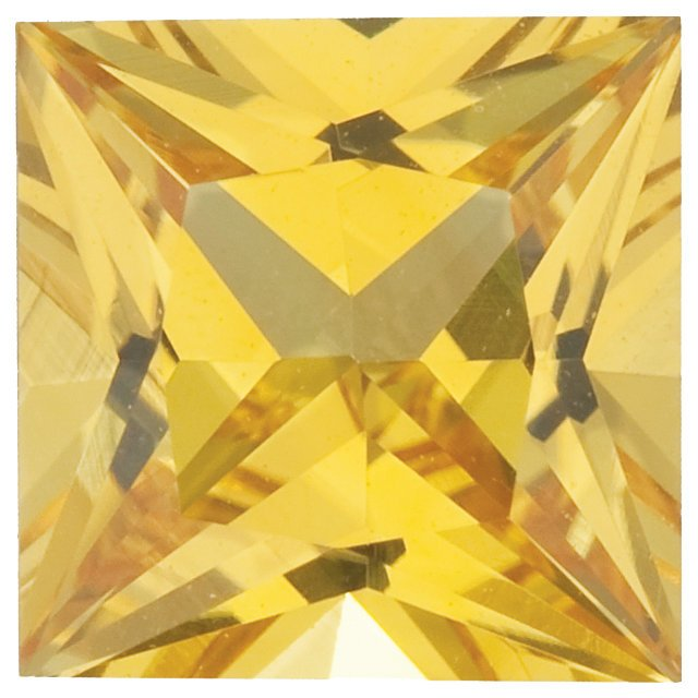 Yellow Sapphire Princess Cut Gemstones  in Grade AAA