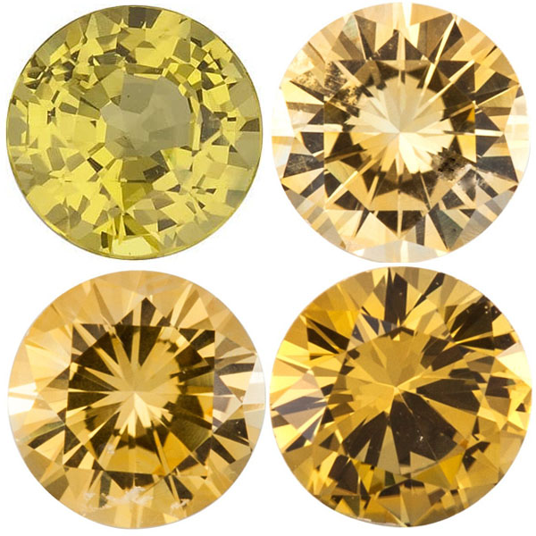 Yellow Sapphire Round Precision Cut Gems - Calibrated