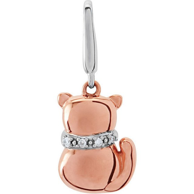 Youth Cat Charm with Diamonds