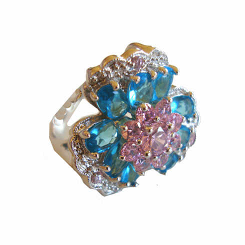 Bright Bold Floral Cocktail Ring