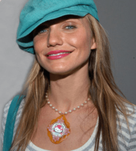 Cameron Diaz in Tarina Tarantino Pink Head Necklace