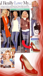 Christina Aguilera in Oh...DEER! Style Shoes (as seen in People)