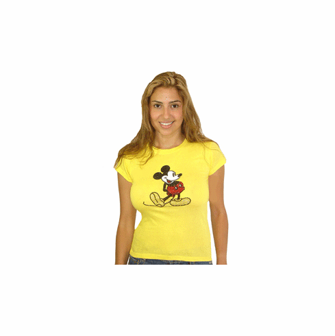 Disney Yellow Mickey Mouse Crystal Tee