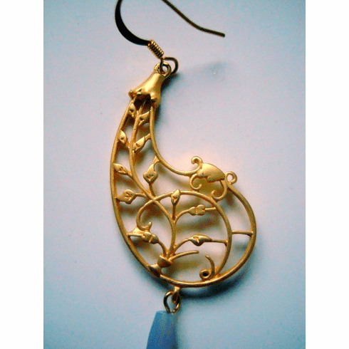 Fashion Bliss Gold Filigree Paisley Earrings