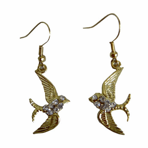 Fashion Bliss Gold Swallow Earrings