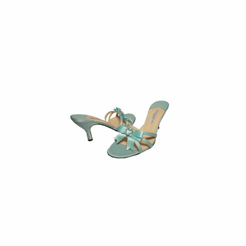 Hollywould Satin and Sparkle Bow Tie Sandals